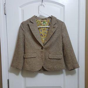 Anthropologie ETT twa Brown Tweed Blazer